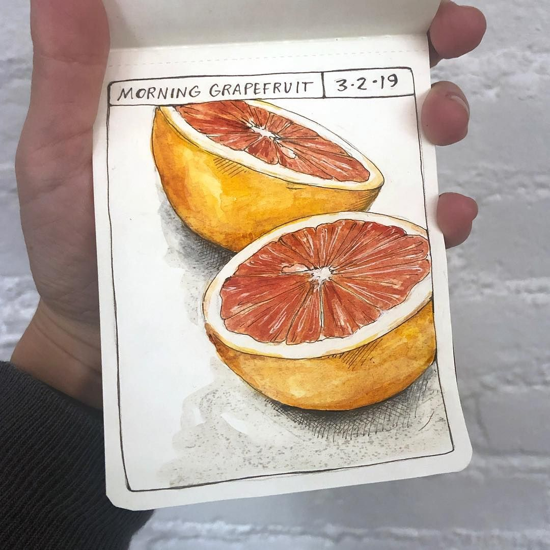 Some recent snapshot pages. Morning grapefruit, a tattoo