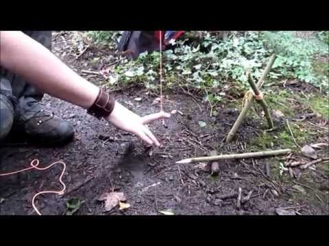 how to make a leg snare trap - YouTube | SNARES | Pinterest