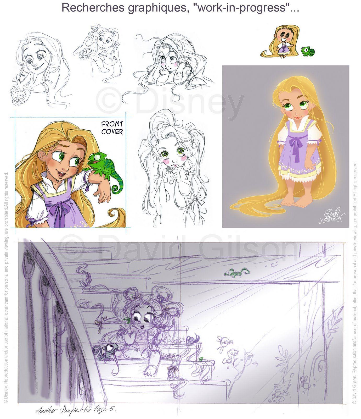 David Gilson: My Disney's Tangled Books / Mes Livres sur Raiponce