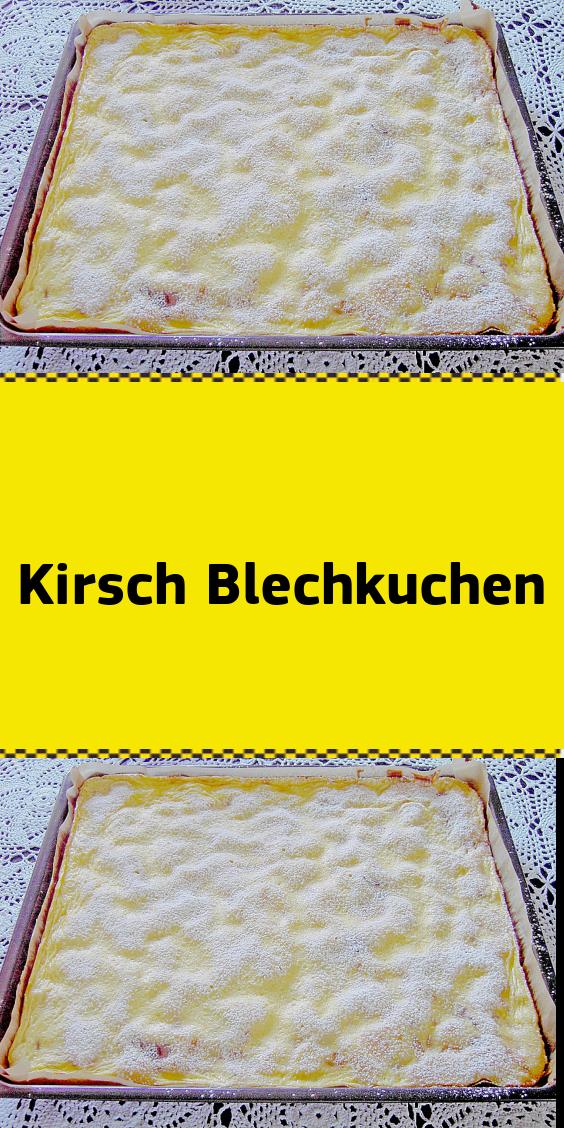 Kirsch Blechkuchen #schokokuchen