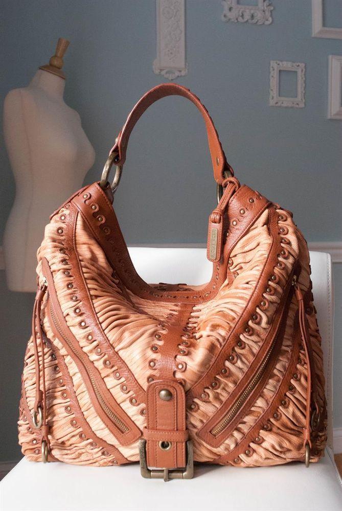 16eba4ca33 ISABELLA FIORE SHIR HONOR ALEXA Studded Ruched Leather Hobo #IsabelaFiore # Hobo