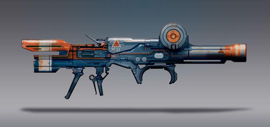 Commission Concept Art - Rocket Launcher by torvenius on DeviantArt