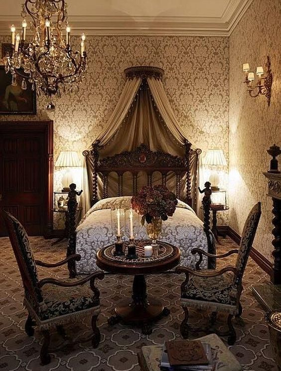 30 Castle Victorian Bed Design Ideas For Gothic Room