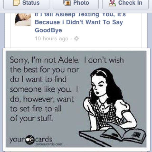 Yeah Adele.