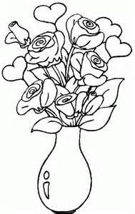 Dibujo De Rosas En Un Jarron Dibujo Para Colorear De Rosas En Un