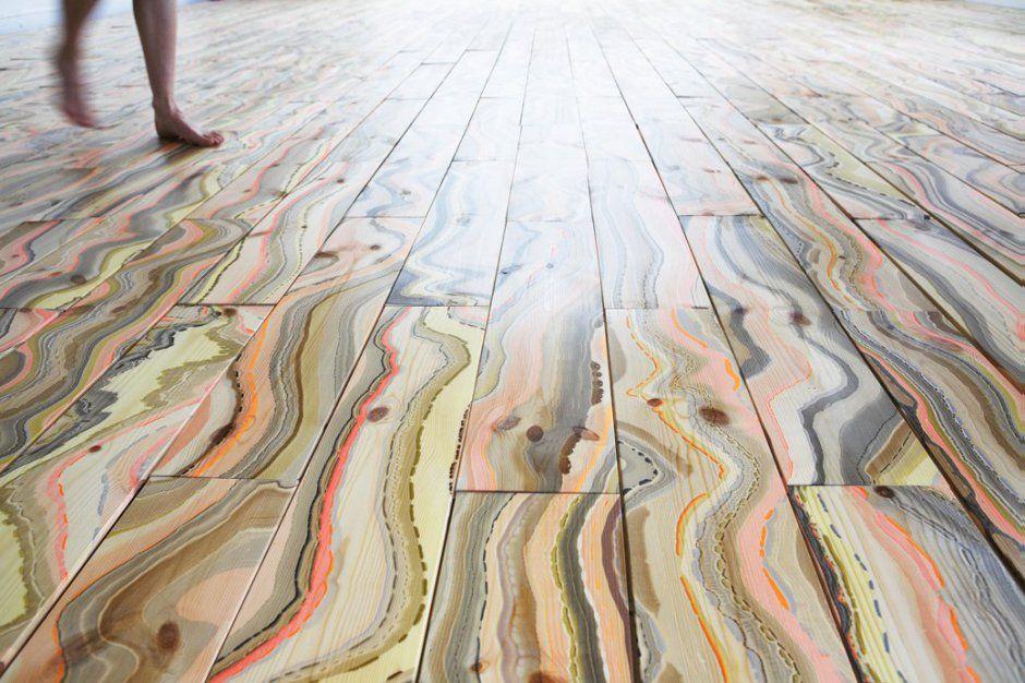 Marbled Wood Flooring By Snedker Studio