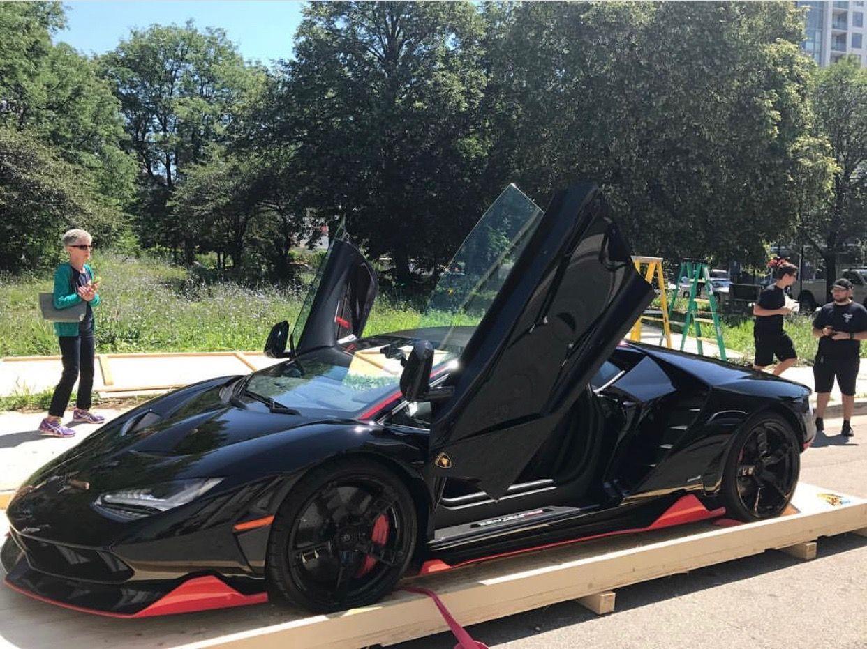 Lamborghini Centenario Coupe Painted In Nero Aldebaran W Rosso