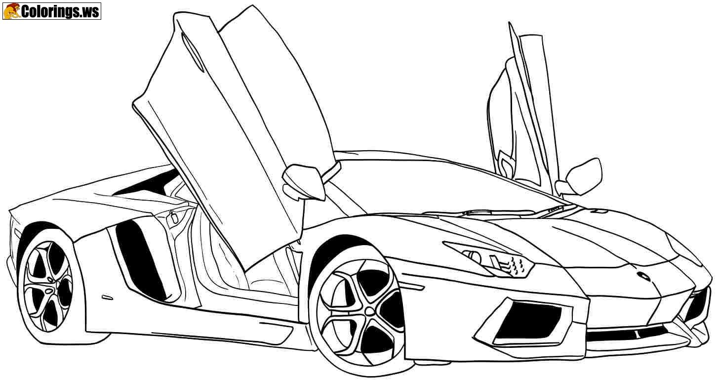 Cool Car Coloring Sheets Images
