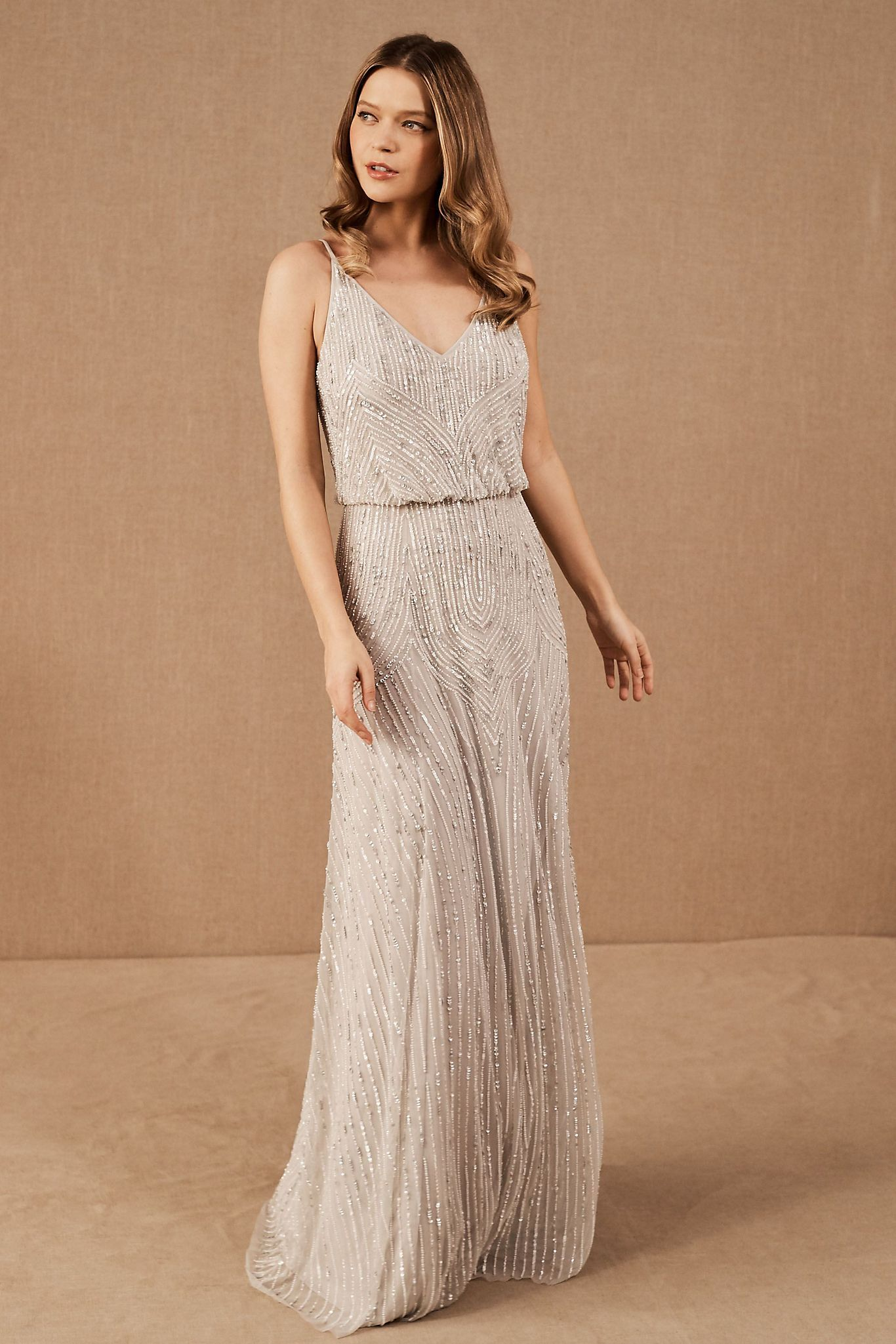 Bhldn Fidelia Dress In 2020 Bhldn Bridesmaid Dresses Beaded Maxi Dress Dresses