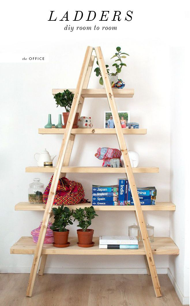 Diy Ladder Homemade Bookshelves Bookshelves Diy Diy Ladder