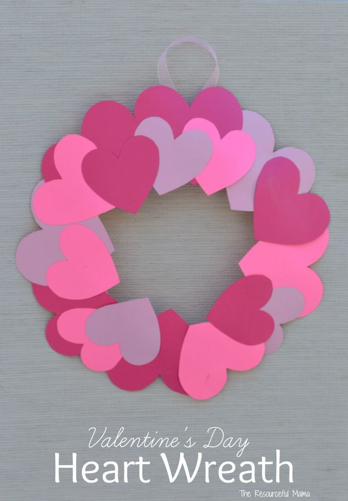 Paper Plate Valentine S Day Heart Wreath Craft Valentine S Day
