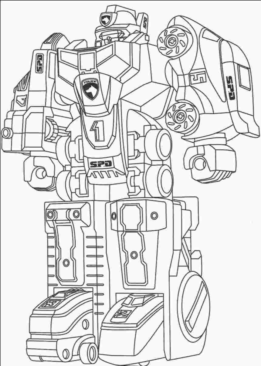 Coloring Page Robot Power Rangers Coloring Pages Transformers