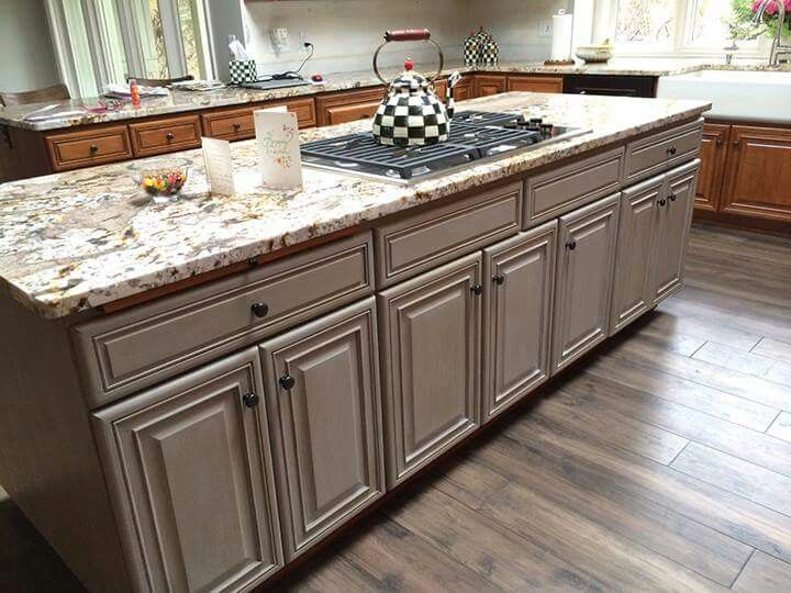 Paris gray with clear and dark wax | Kitchen cabinets ...