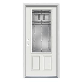Exceptionnel ReliaBilt 3/4 Lite Prehung Inswing Steel Entry Door (Common: 32 In X 80 In;  Actual: 33.5 In X 81.75 In)