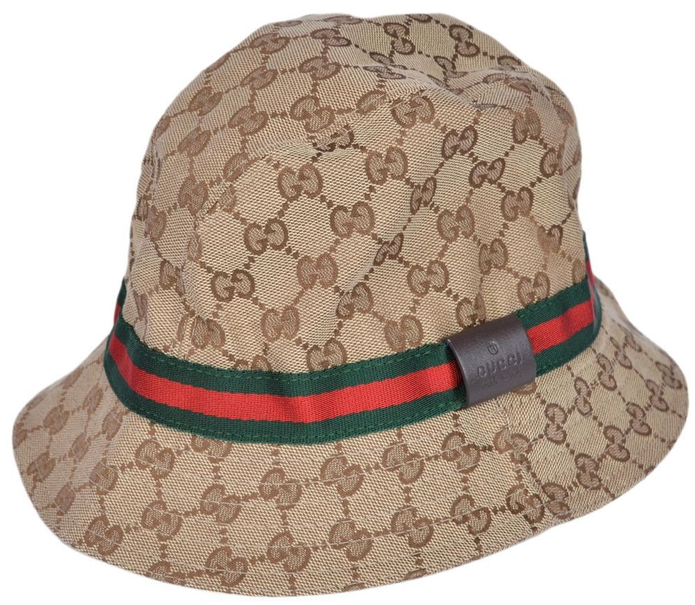 078e8ef0c Details about New Gucci GG Guccissima Beige Red Green Stripe Fedora ...