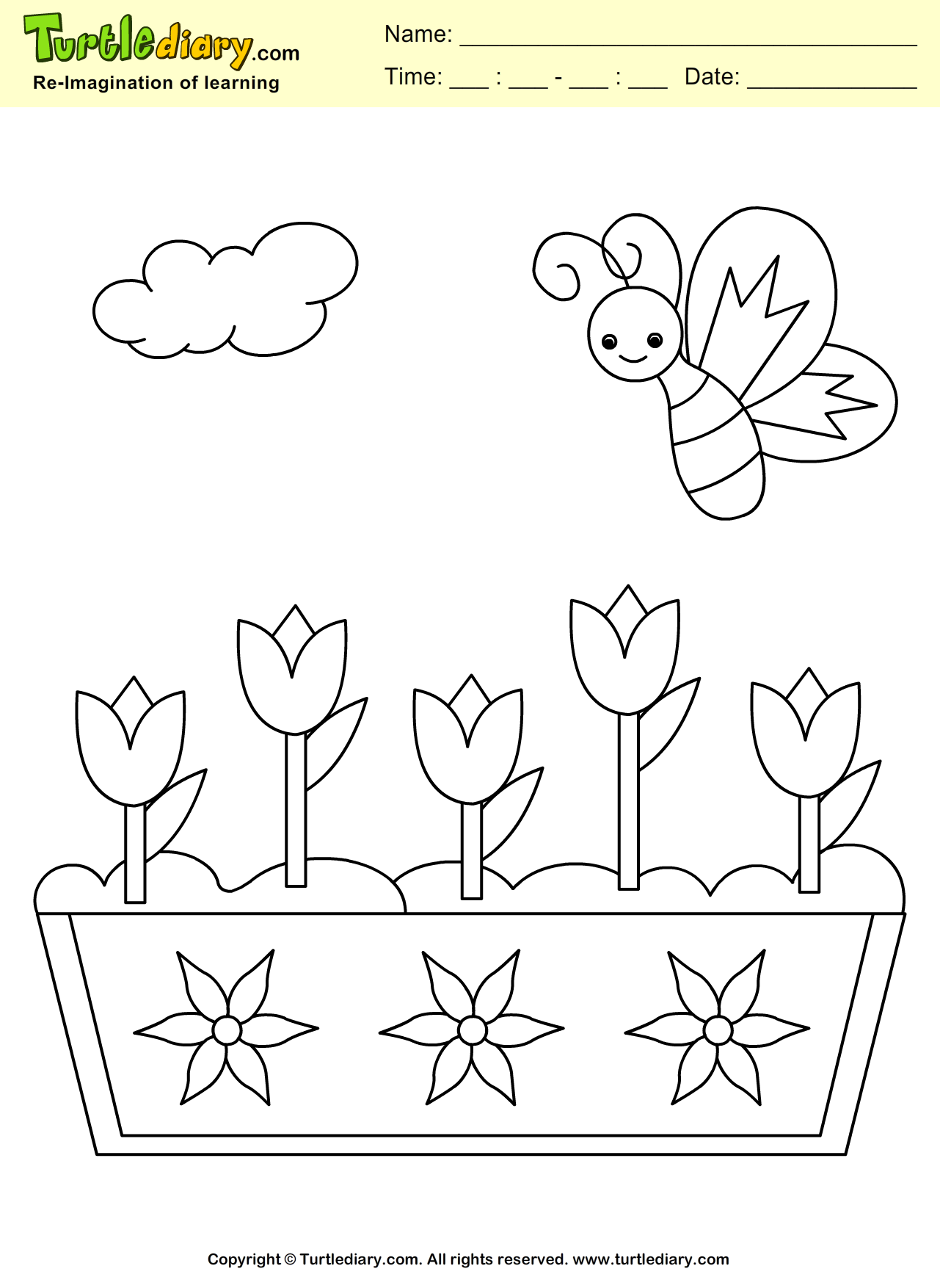 Spring Butterfly Coloring Page #Kids #Crafts #Coloring # ...