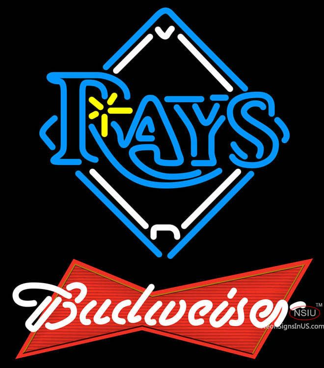 Budweiser Red Tampa Bay Rays MLB Real Neon Glass Tube Neon Sign,Affordable  And Durable,Made In USA,if You Want To Get It ,please Click The Visit  Button Or ...
