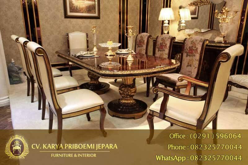 Meja Makan Jati Mewah Empire Royal Antique Dining Room Sets