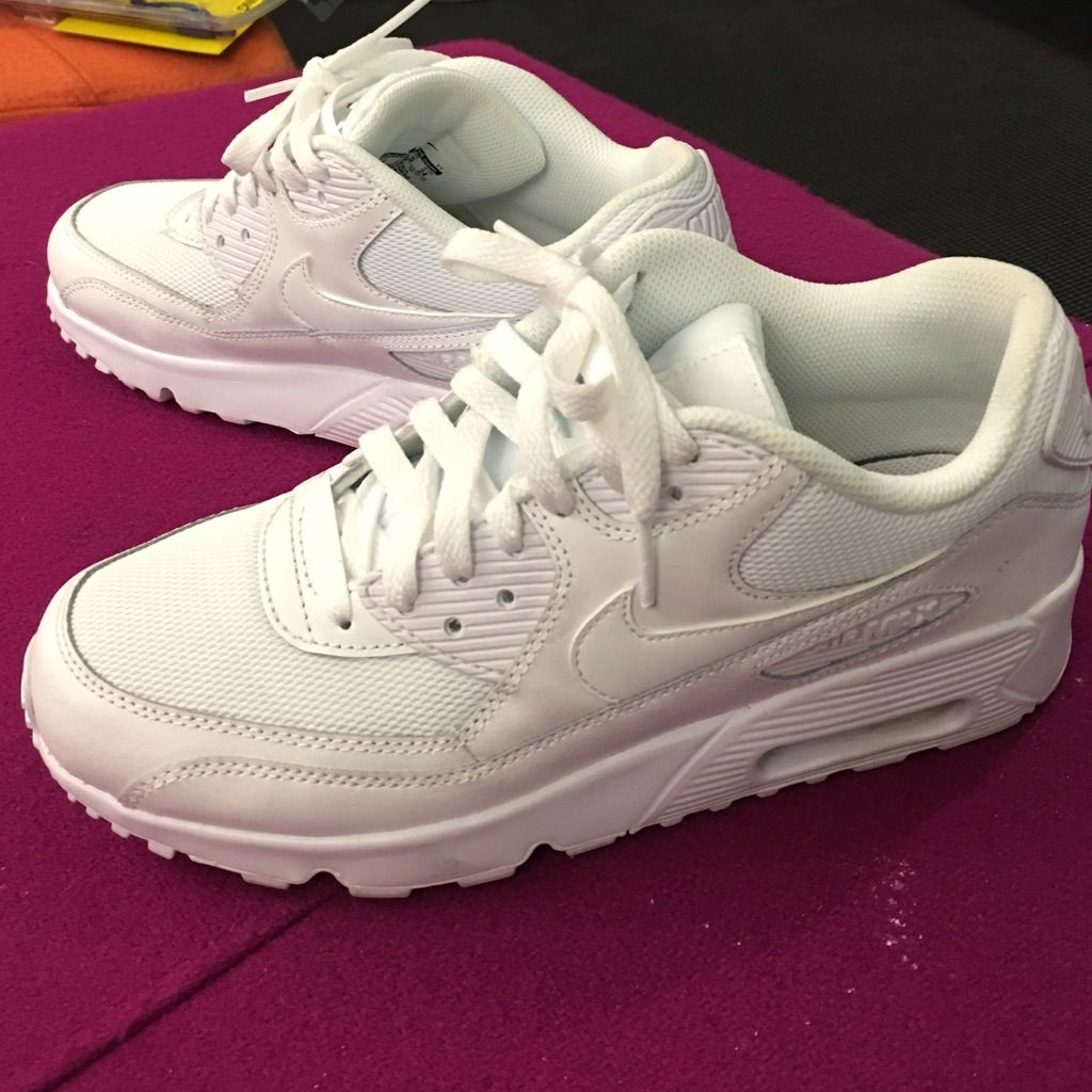 best website 2b09a 34dc2 Nike Shoes | All White Air Max 90 | Color: White | Size: 7.5 ...