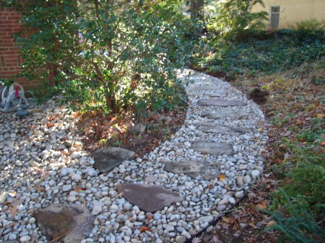 This Gravel Walkway Will Add To The Beauty Of Your Landscape Share Your Thoughts Reston Va Drainage Er Yard Drainage Wet Basement Solutions Drainage