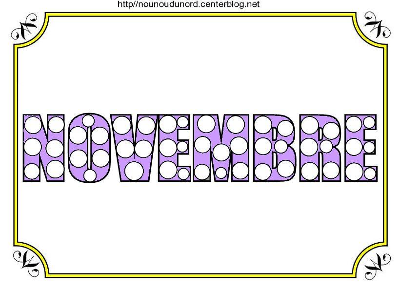Mois de NOVEMBRE à colorier à gommettes | Gommette, Colorier et Mois de novembre