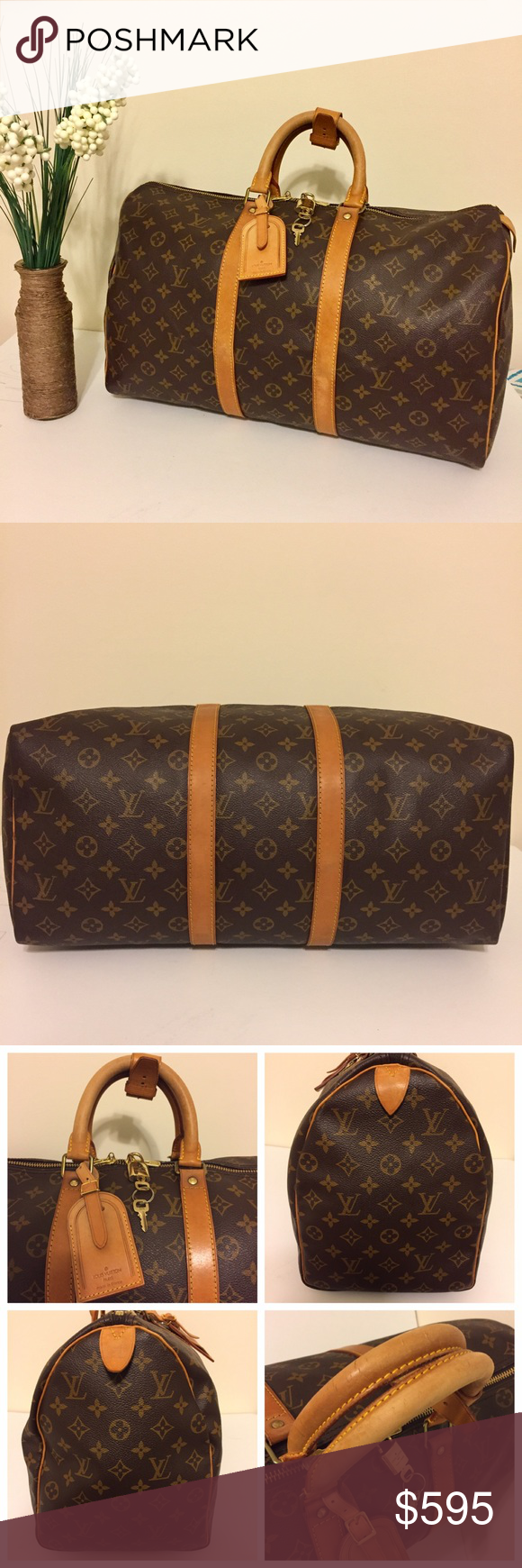 1315818c08f4 Authentic Louis Vuitton Keepall 45 Authentic. Date Code SP1901. Made in  France. Complete set! Canvas is excellent. Vachetta is a beautiful honey  patina.