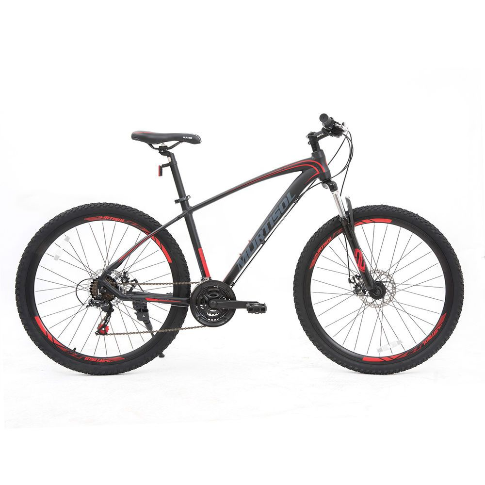 "21 Speeds 27.5/"" Front Suspension Mountain Bike Bicycles Dics Brakes Red Black"