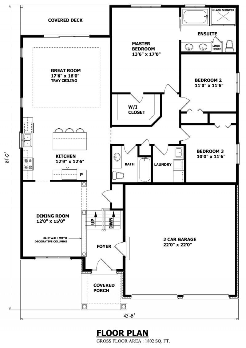 British Columbia Floor Plan Bungalow Floor Plans House Plans Garage House Plans