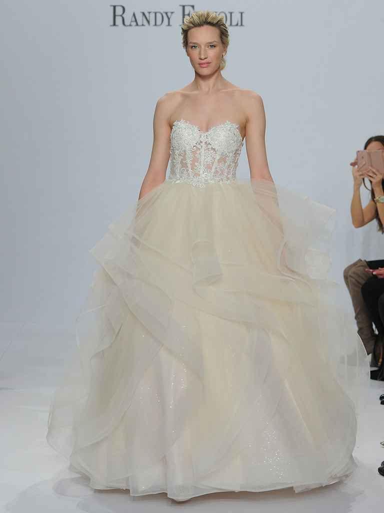 Randy fenoli spring shimmering wedding dresses make a