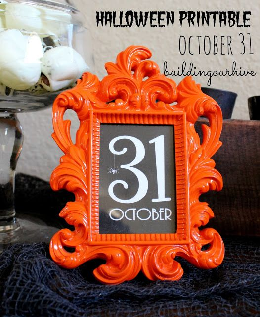 Building Our Hive October 31 Printable Paper Halloween - halloween decoration printables