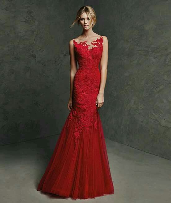 622d45383a71 Vestido rojo largo | Dama de amor | Vestidos de fiesta rojos ...