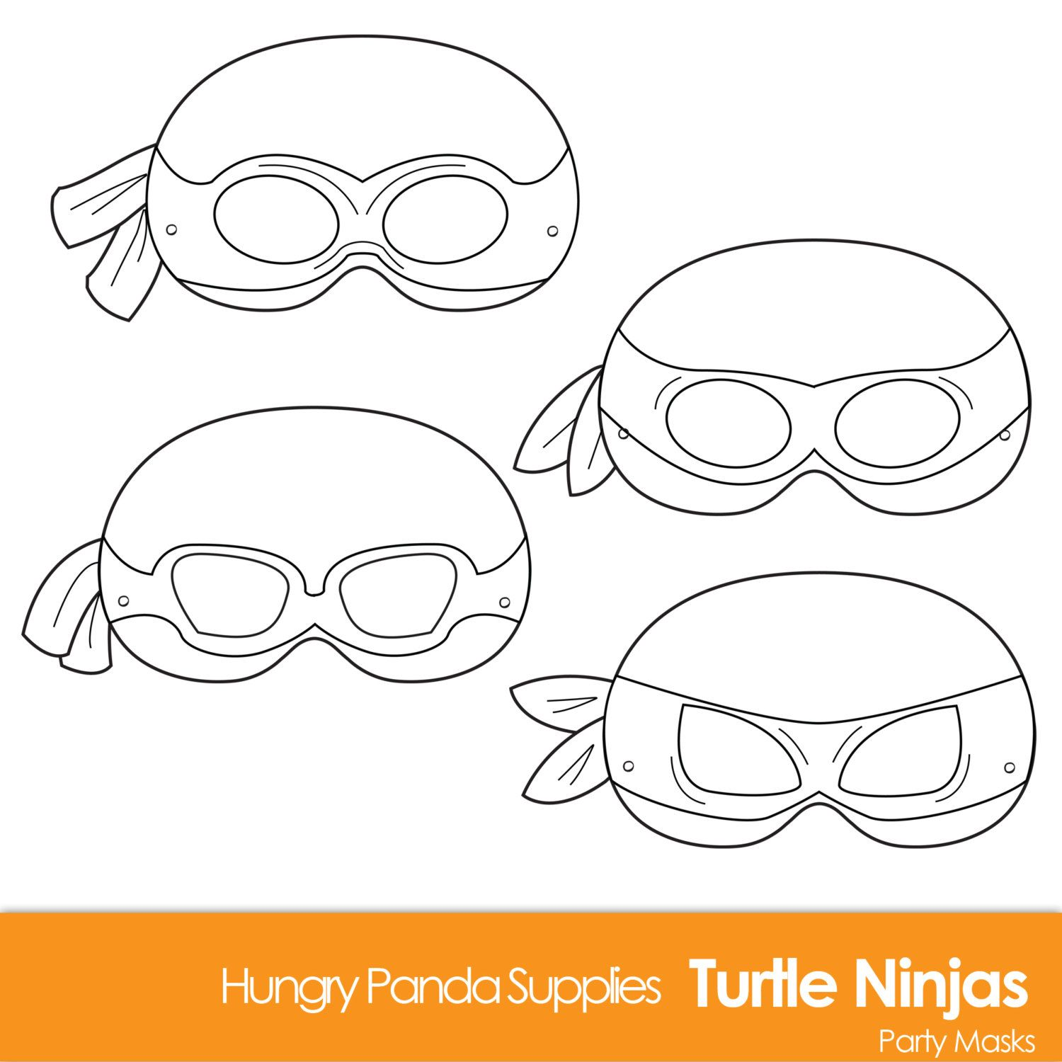 Turtle printable coloring masks turtle mask by for Tortoise mask template
