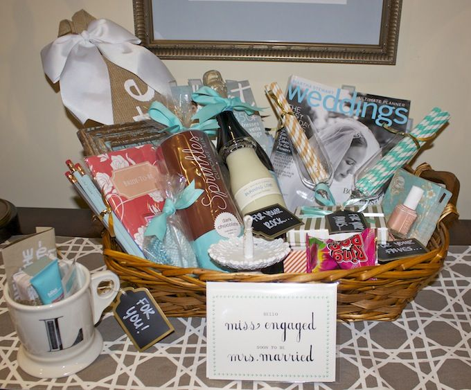 Wedding Gift Ideas For Bride From Sister : How-To: Engagement Gift Basket Getting engaged, Engagement gift ...