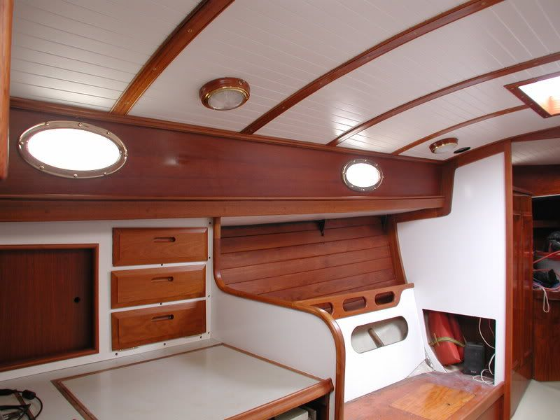 Small Boats Teak Interior
