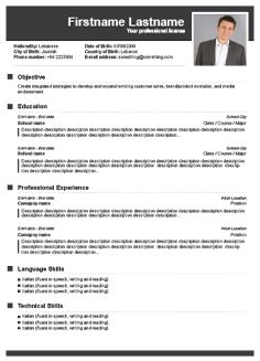 cv template free resume and resume on pinterest
