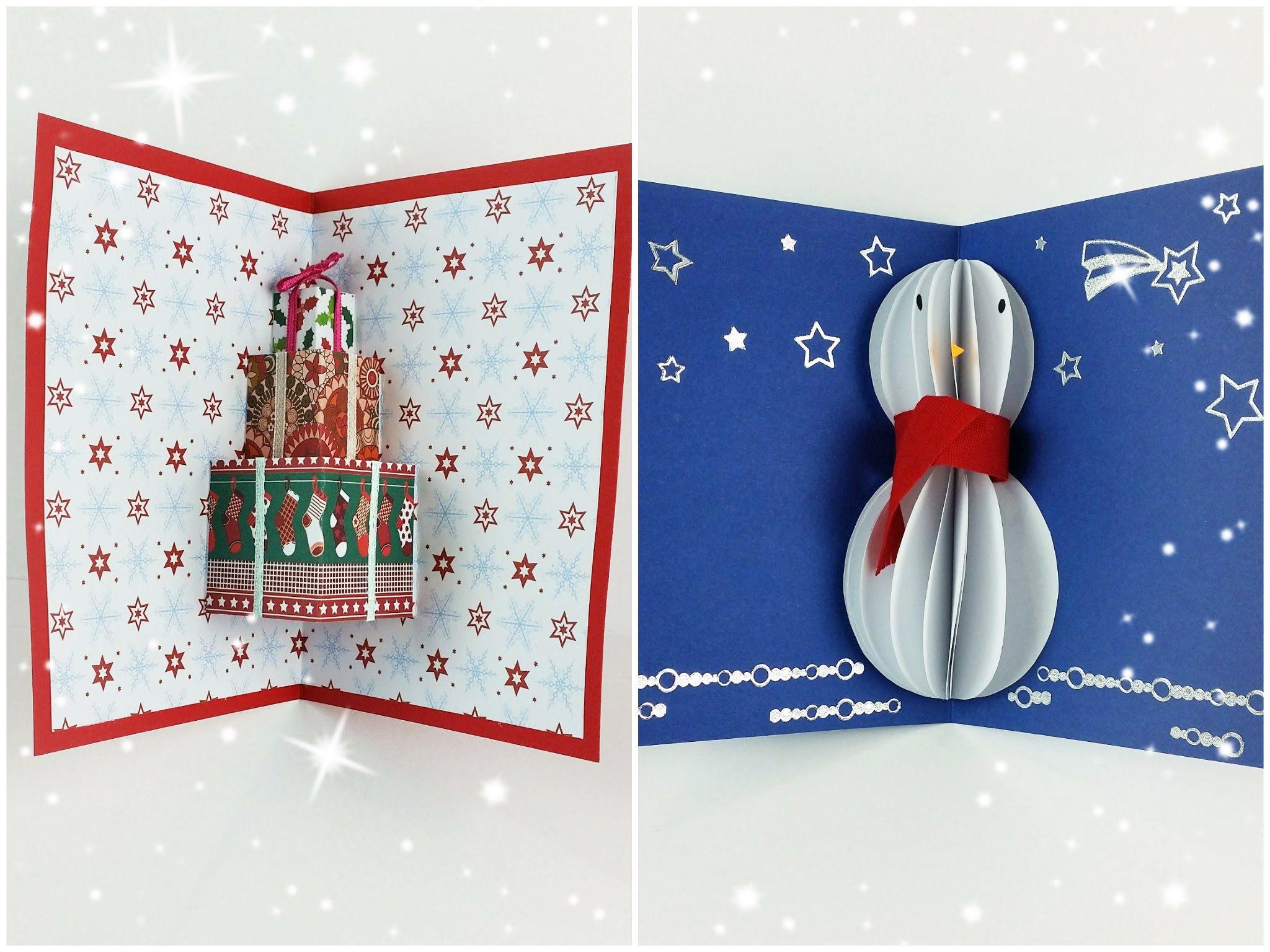 Lavoretti Di Natale Arte Per Te.Tutorial Biglietti D Auguri Pop Up Natalizi Collab Arte Per Te Artigianato Di Natale Fai Da Te Biglietti Auguri Natale Fai Da Te Biglietti Di Natale