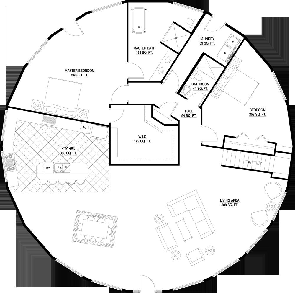 Deltec Homes Floorplan Gallery Round Floorplans Custom Floorplans Round House Plans Floor Plan Design Architectural Floor Plans