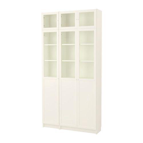 Billy Oxberg Bibliothèque Blanc Verre Ikea Idées