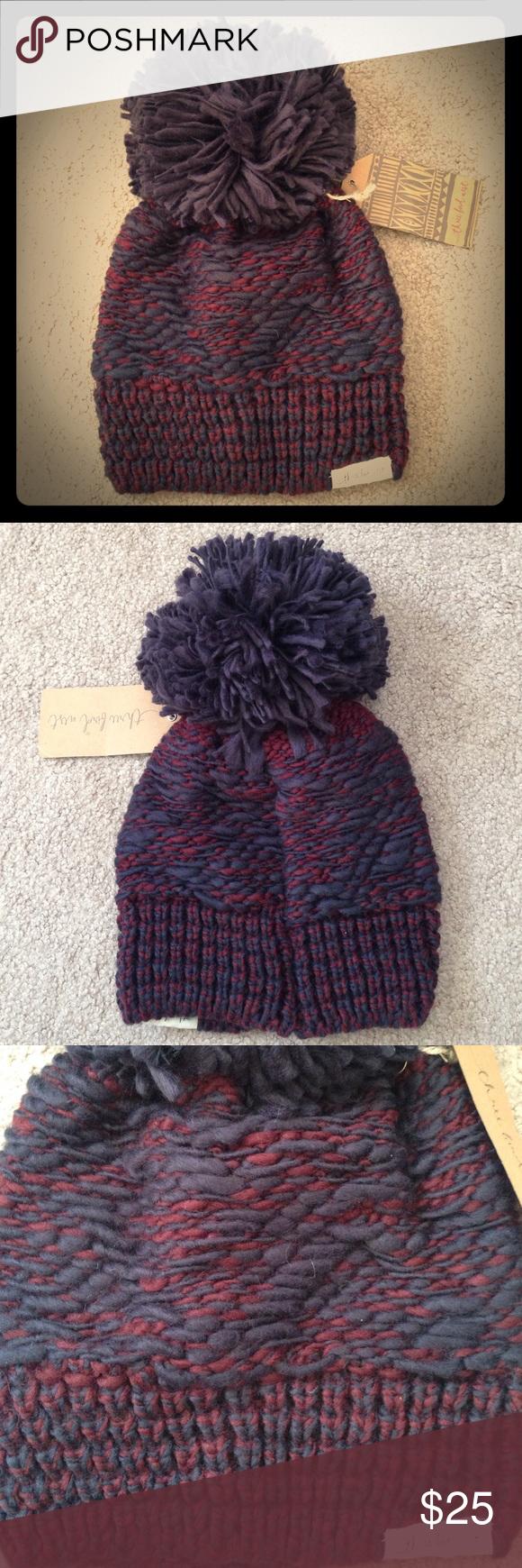 81805a21e30 Marled color combo knit pom pom beanie Brand new from Three Bird Nest.  Adorable beanie