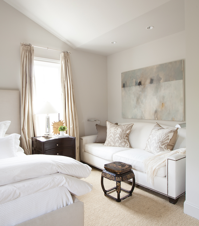 Soothing Neutrals Bedroom With Sitting Area Bedroom Couch Home