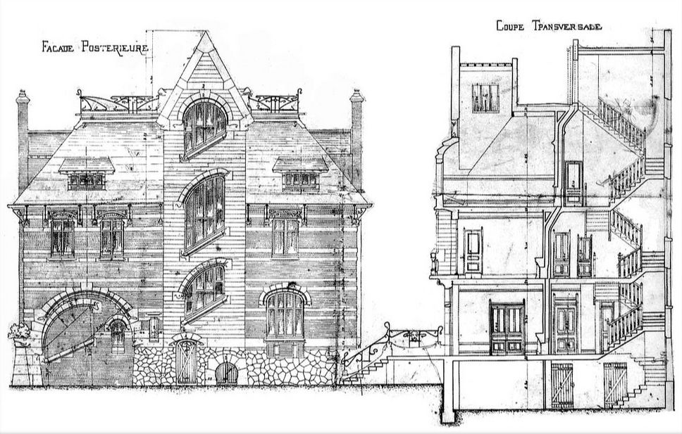Art Nouveau - La Villa Berthe, plus Connue sous le Nom de 'la Hublotière', a été Construite en 1896 par l'Architecte Hector Guimard