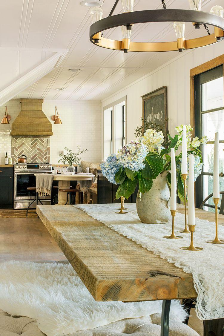 The Living U0026 Dining Room: Cottage House Flip Reveal · Französischer  LandhausstilModerne ...
