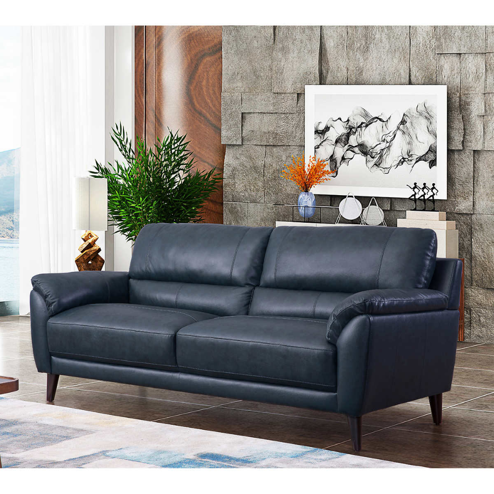 Blue 2 In 2020 Blue Leather Sofa Top Grain Leather Sofa Best Leather Sofa