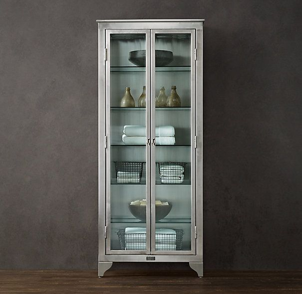 for kitchen 1930s laboratory stainless steel storage cabinet from restoration hardware