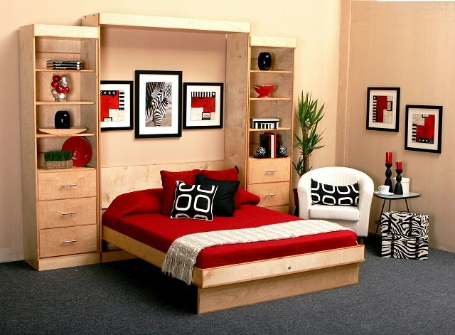 Soluzioni salvaspazio per la camera | Camera da letto piccola ...