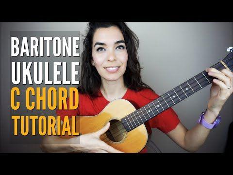 (6) Baritone Ukulele C Chord EASY Tutorial for Beginners ...