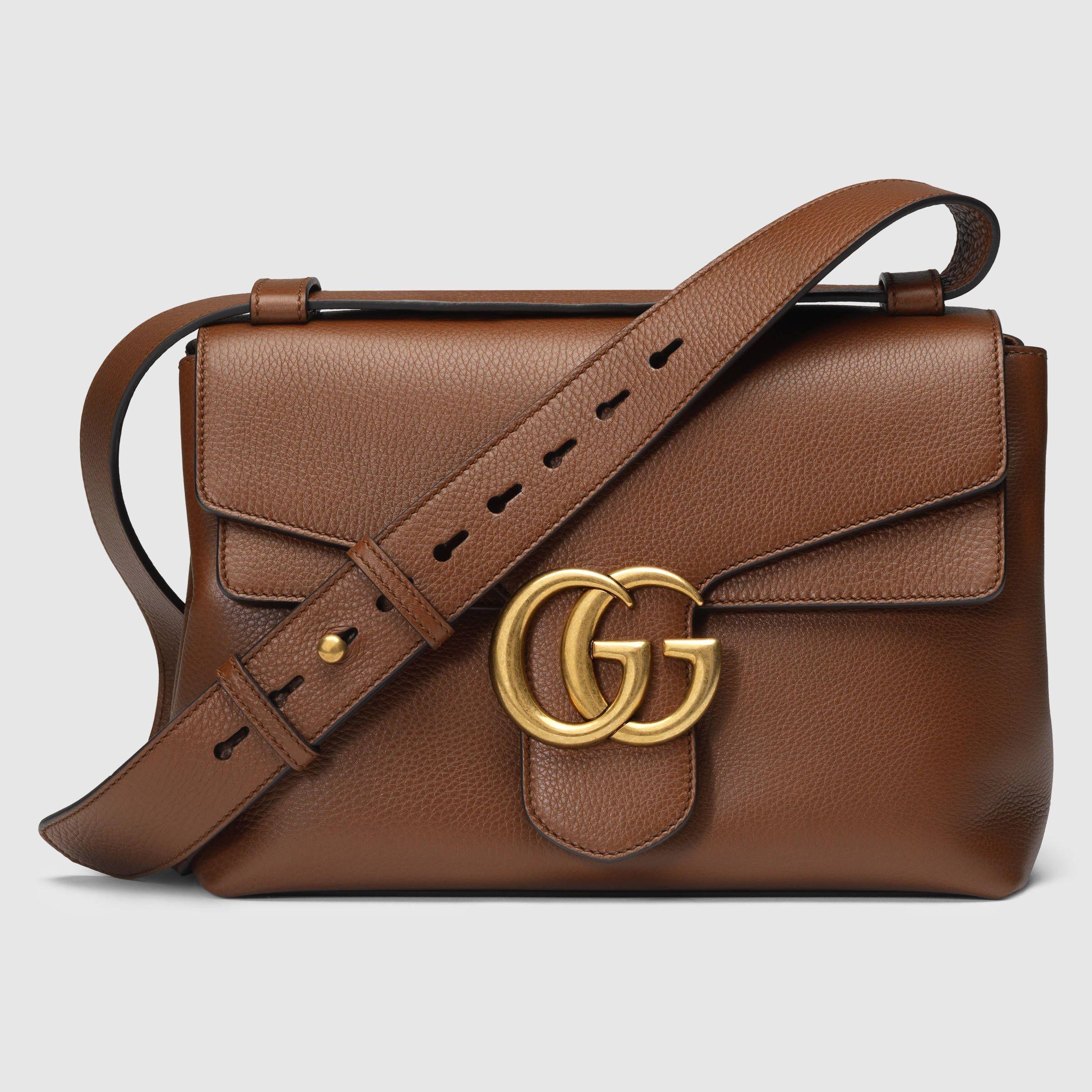 Gucci Women - GG Marmont leather shoulder bag - 401173A7M0T2548 ... f0c5fbdd2