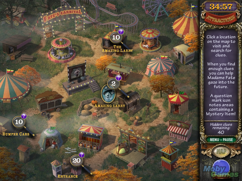 Mystery Case Files Madame Fate Windows Locations map
