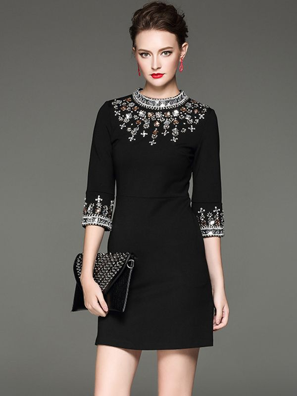 Sparkly Couture Style LBD Fashion #Sparkly #Bling #Couture #Style #LBD #Party_Dresses #Holiday_Dresses
