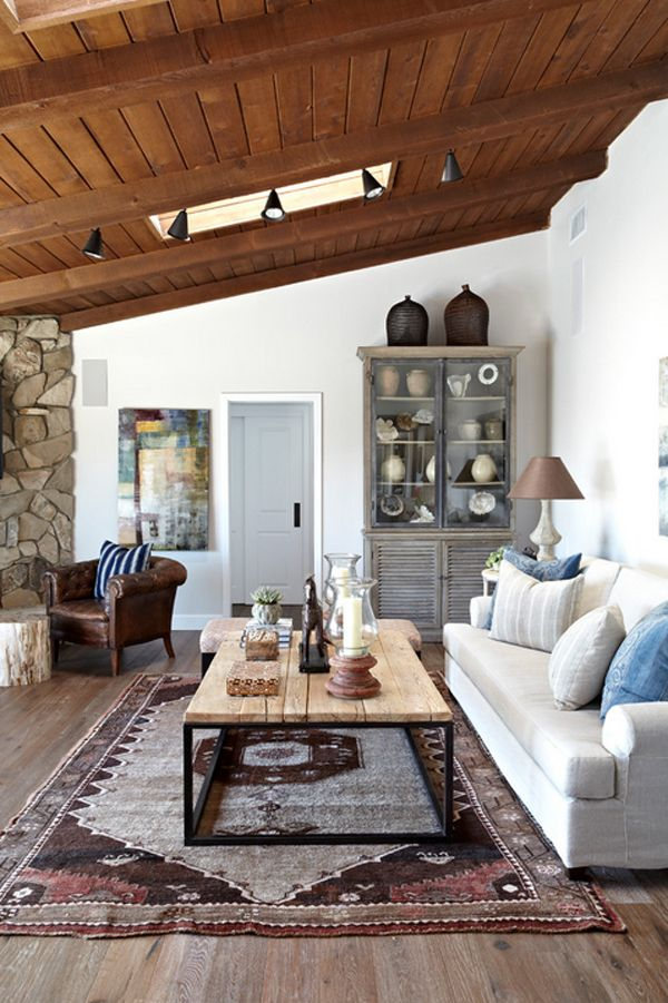 Interiors interior design home decor decorating ideas contemporary ranch rustic living room inspiration also house evoking  warm feel in california rh pinterest